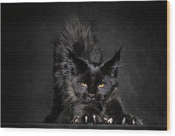 Black Panther Wood Print by Robert Sijka