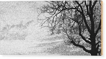 Black Rain Wood Print by Ed Smith