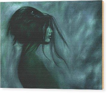 Black Raven Wood Print by Ragen Mendenhall