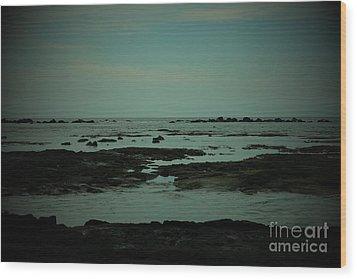 Black Rock Beach Wood Print