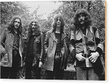 Wood Print featuring the photograph Black Sabbath 1970 #3 by Chris Walter
