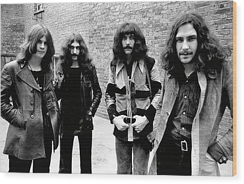 Wood Print featuring the photograph Black Sabbath 1970 #4 by Chris Walter