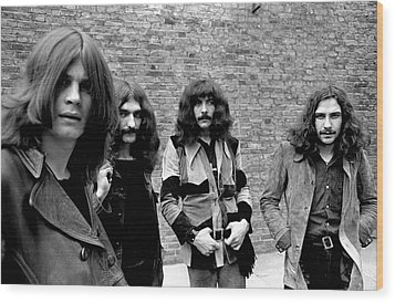 Wood Print featuring the photograph Black Sabbath 1970 #5 by Chris Walter