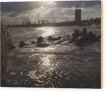 Wood Print featuring the photograph Black Sea by Evelina Popilian