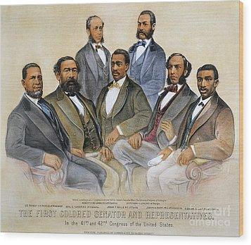 Black Senators, 1872 Wood Print by Granger