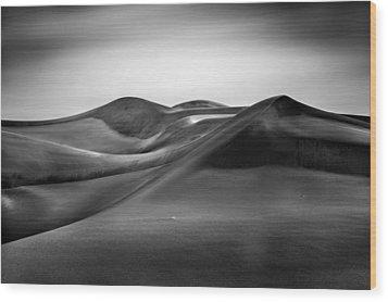 Wood Print featuring the photograph Black Silk by Alexander Kunz