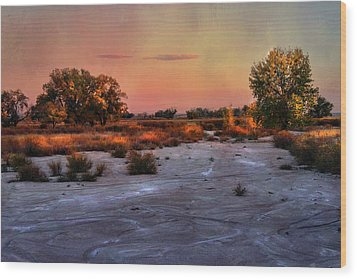 Wood Print featuring the photograph Black Squirrel Creek Fall Scape by Ellen Heaverlo