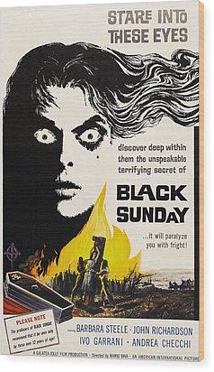 Black Sunday, Barbara Steele, One-sheet Wood Print by Everett