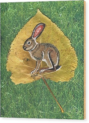 Black Tail Jack Rabbit  Wood Print