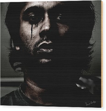Black Tears Wood Print by Venura Herath