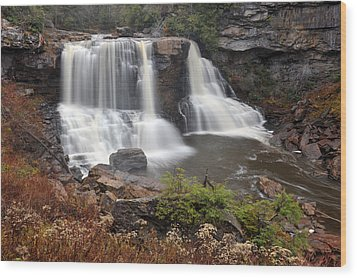 Wood Print featuring the photograph Blackwater Falls by Dung Ma