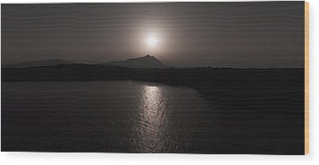Black And White Nature Landscape Panorama Photography Art Print Wood Print by Artecco Fine Art Photography
