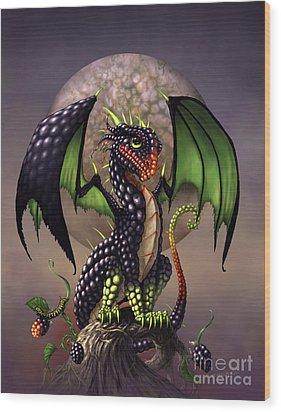 Blackberry Dragon Wood Print