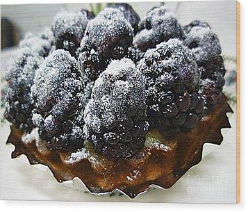Blackberry Tart Wood Print