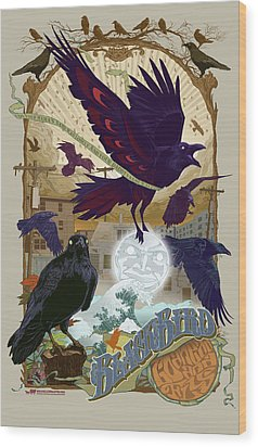 Blackbird 1 Wood Print