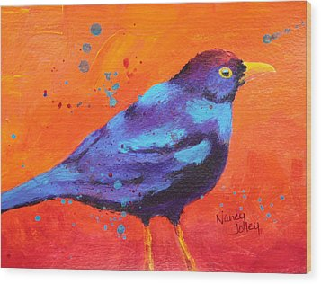 Blackbird II Wood Print