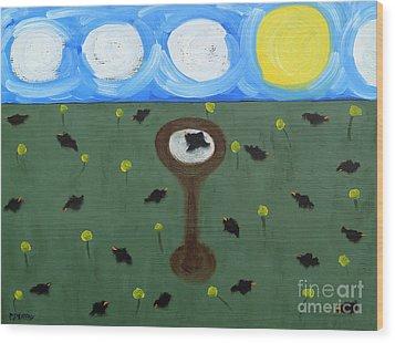 Blackbirds Wood Print by Patrick J Murphy