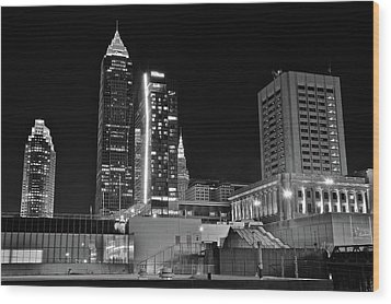 Wood Print featuring the photograph Blackest Night In Cle by Frozen in Time Fine Art Photography