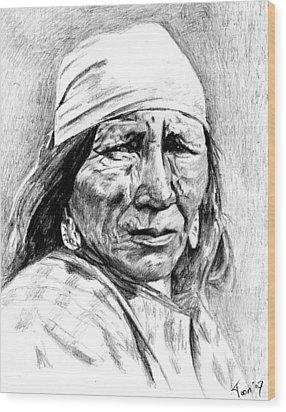 Blackfoot Woman Wood Print by Toon De Zwart