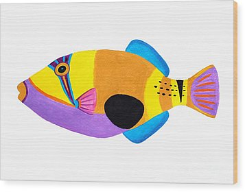 Blackpatch Triggerfish  Wood Print by Opas Chotiphantawanon