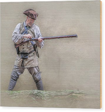 Blackpowder Woodsman Version Two Wood Print by Randy Steele