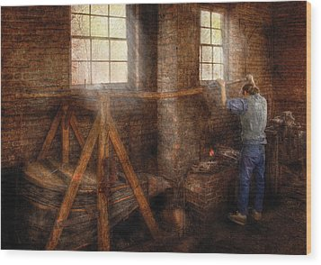 Blacksmith - It's Getting Hot In Here Wood Print by Mike Savad