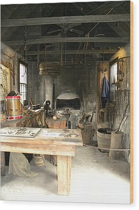 Blacksmith Wood Print by Kim Zwick