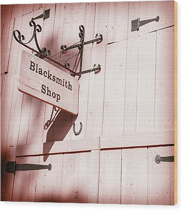 Wood Print featuring the photograph Blacksmith Shop by Alexey Stiop