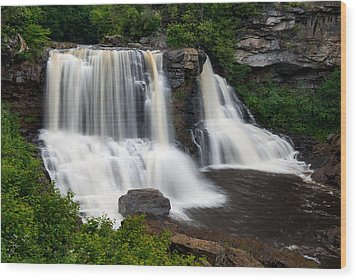 Blackwater Falls State Park West Virginia Wood Print by Rick Dunnuck