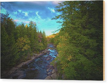 Blackwater Skys Wood Print