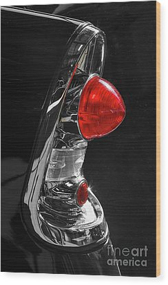 Wood Print featuring the photograph Black '56 by Dennis Hedberg