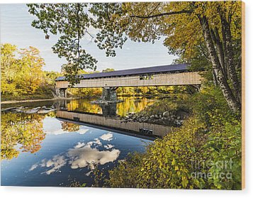 Wood Print featuring the photograph Blair Bridge by Anthony Baatz
