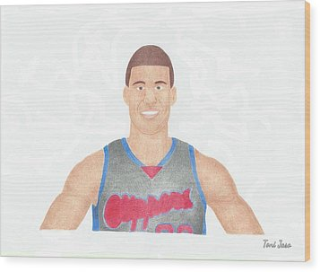 Blake Griffin Wood Print by Toni Jaso
