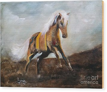 Blanket The War Pony Wood Print
