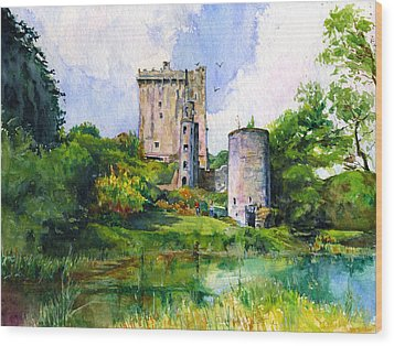 Blarney Castle Landscape Wood Print