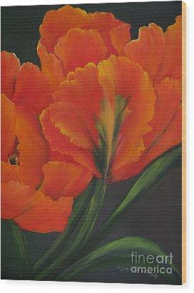 Blaze Of Glory Wood Print by Carol Sweetwood