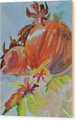 Wood Print featuring the painting Blazing Autumn by Beverley Harper Tinsley