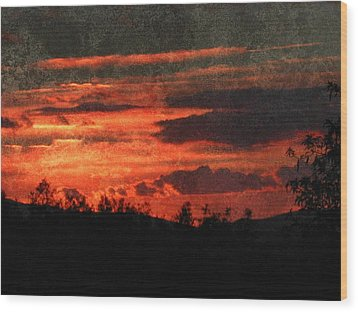 Blazing Sunset Wood Print by Dorothy Berry-Lound