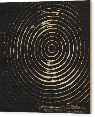 Bleached Circles Wood Print by Cynthia Powell