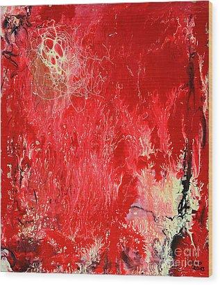 Bleeding Love Wood Print by Jutta Maria Pusl
