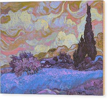 Blend 20 Van Gogh Wood Print by David Bridburg