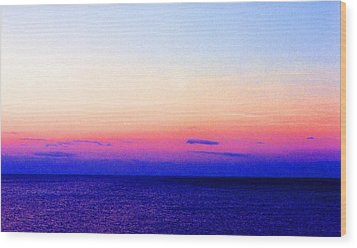 Wood Print featuring the digital art Blend Above The Lake 233 by Lyle Crump