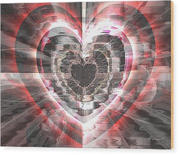 Blessed Heart Wood Print by Fania Simon
