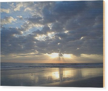 Blessed New Day Wood Print by Cheryl Waugh Whitney