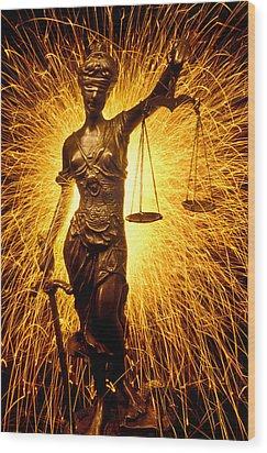 Blind Justice  Wood Print by Garry Gay