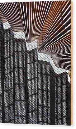 Blind Shadows Abstract I Wood Print
