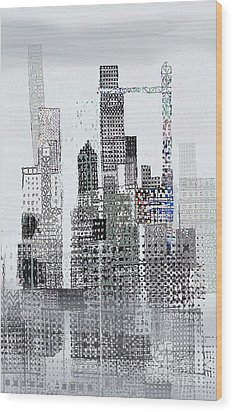 Blip 2  Wood Print by Andy  Mercer