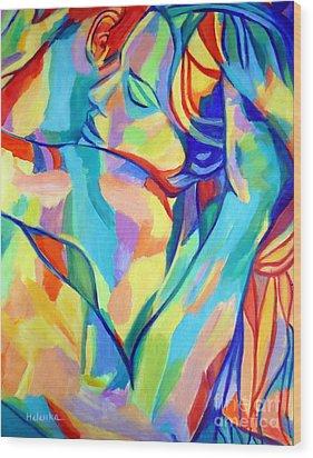 Bliss Wood Print by Helena Wierzbicki