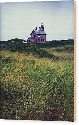Wood Print featuring the photograph Block Island Light-house by John Scates