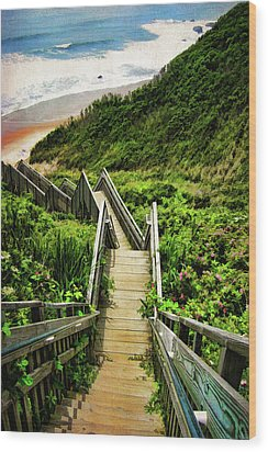 Block Island Wood Print